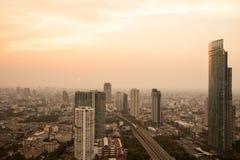 Solnedgångstad i bangkoken Royaltyfri Fotografi