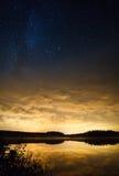 Solnedgångstjärnor Arkivbilder