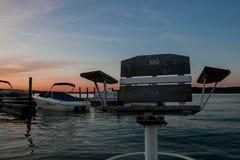 Solnedgångstol arkivfoto