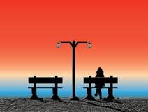 solnedgångstrand Arkivfoto