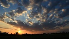 Solnedgångtimelapse lager videofilmer
