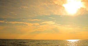 solnedgångtobak Arkivfoto