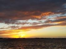 Solnedgångtystnad Arkivfoton