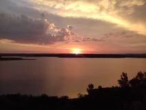 Solnedgångunder Arkivfoto