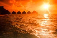 Solnedgångvillaanseende Arkivbild