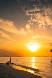Solnedgångvillaanseende Arkivbilder