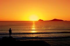 solnedgångvisning Arkivbilder