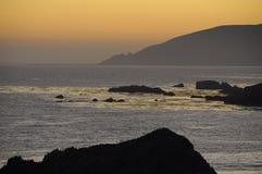 solnedgångwestcoast Royaltyfri Bild