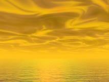 solnedgångyellow royaltyfri illustrationer