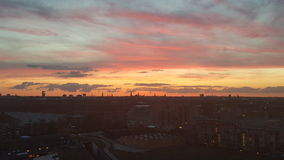 Solnedgang над amager Стоковая Фотография RF