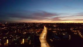 Solnedgang au-dessus d'amager Photo libre de droits
