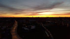 Solnedgang au-dessus d'amager Image libre de droits