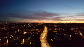 Solnedgang sobre amager Foto de archivo libre de regalías