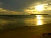 solnedgång för mystic ii Arkivfoton