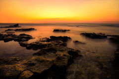 solnedgång för rött hav Royaltyfria Foton