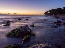 Solnedgång i Maui Arkivfoton