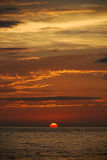 Solnedgång i Puerto Vallarta Fotografering för Bildbyråer