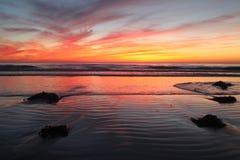 Solnedgång Kalifornien Fotografering för Bildbyråer