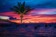 Solnedgång på Ko Tao Fotografering för Bildbyråer