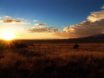 solnedgångsikt Arkivfoton