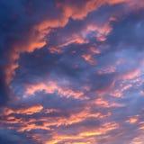 Solnedgångsky Arkivbilder