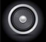 Solo altavoz, altavoz para bajas audiofrecuencias acústico stock de ilustración