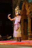 Solo Apsara dancer Royalty Free Stock Images