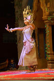 Solo Apsara dancer Royalty Free Stock Image