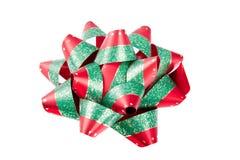 Solo arqueamiento verde rojo de la Navidad Fotos de archivo