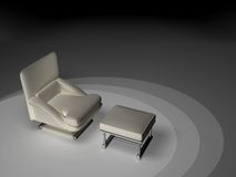 Solo asiento - blanco Fotografía de archivo