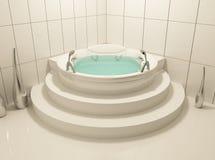 Solo baño blanco en cuarto de baño Imágenes de archivo libres de regalías