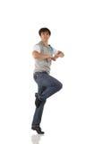 Solo bailarín de golpecito de sexo masculino Fotos de archivo libres de regalías