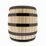 Solo barril del roble en blanco aislado en el ejemplo 3D Imagen de archivo libre de regalías