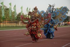 THE 2015 SOLO BATIK CARNIVAL PLAN Stock Photos