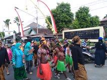 Solo- Batikkarnevalskultur stockbilder