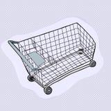 Solo carro de la compra Imagen de archivo libre de regalías