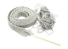 Solo-coloreado crochet-trabaje fotografía de archivo libre de regalías