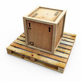 Solo Crate On Pallet Stock Images