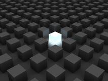 Solo cubo stock de ilustración