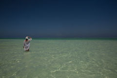 Solo dipenda la spiaggia in Michamwi-Pingwe Zanzibar, Immagini Stock