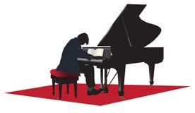 Solo do concerto do piano de cauda ilustração stock
