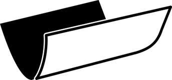 Solo doblez de papel encrespado en el vector editable dos en color negro ilustración del vector