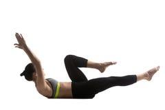 Solo ejercicio del estiramiento de la pierna Fotografía de archivo