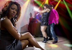 Solo en el club nocturno Imagen de archivo libre de regalías