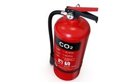 Solo extintor rojo del CO2 fotografía de archivo libre de regalías