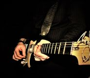 Solo- Gitarrennahaufnahme Lizenzfreies Stockfoto
