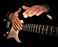 Solo- Gitarrennahaufnahme Lizenzfreie Stockbilder