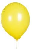 Solo globo amarillo aislado en el fondo blanco Imagen de archivo