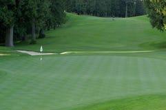 Solo golfspeler op golfcursus Royalty-vrije Stock Foto's