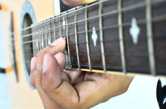 Solo guitar. Stock Photo